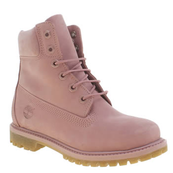 Womens Timberland Pink 6 Inch Premium Boots