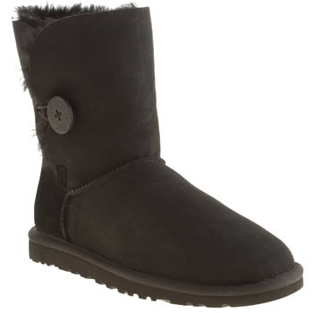 Womens Ugg Australia Black Bailey Button Boots