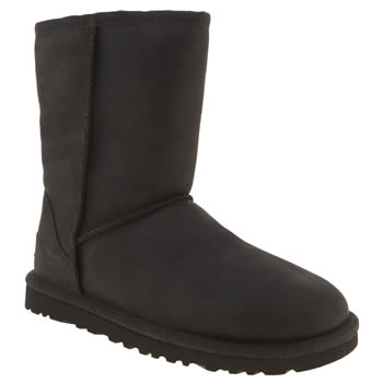 womens ugg australia black classic short leather boots