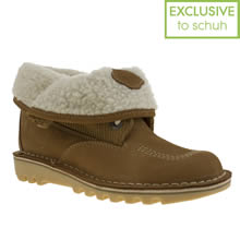 Tan Kickers Fold Shearling
