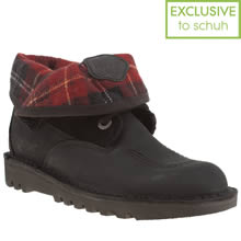 Black & Red Kickers Fold Plaid