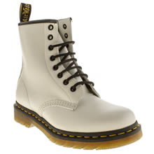 White Dr Martens 8 Eye
