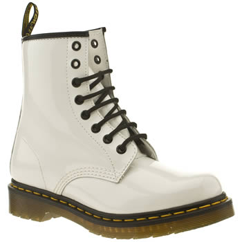 womens dr martens white patent 1460 boots