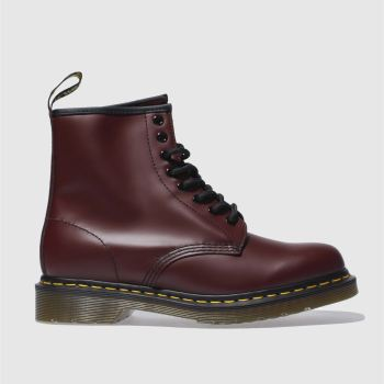 Womens Dr Martens Burgundy 8 Tie Boots