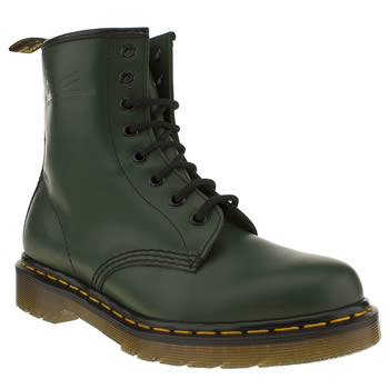 Womens Dr Martens Dark Green 8 Tie Boots