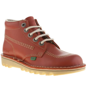 womens kickers red kick hi boots
