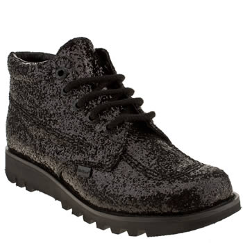 womens kickers black kick hi ii glitter boots
