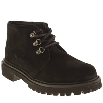 Womens Schuh Black Power Up Boots