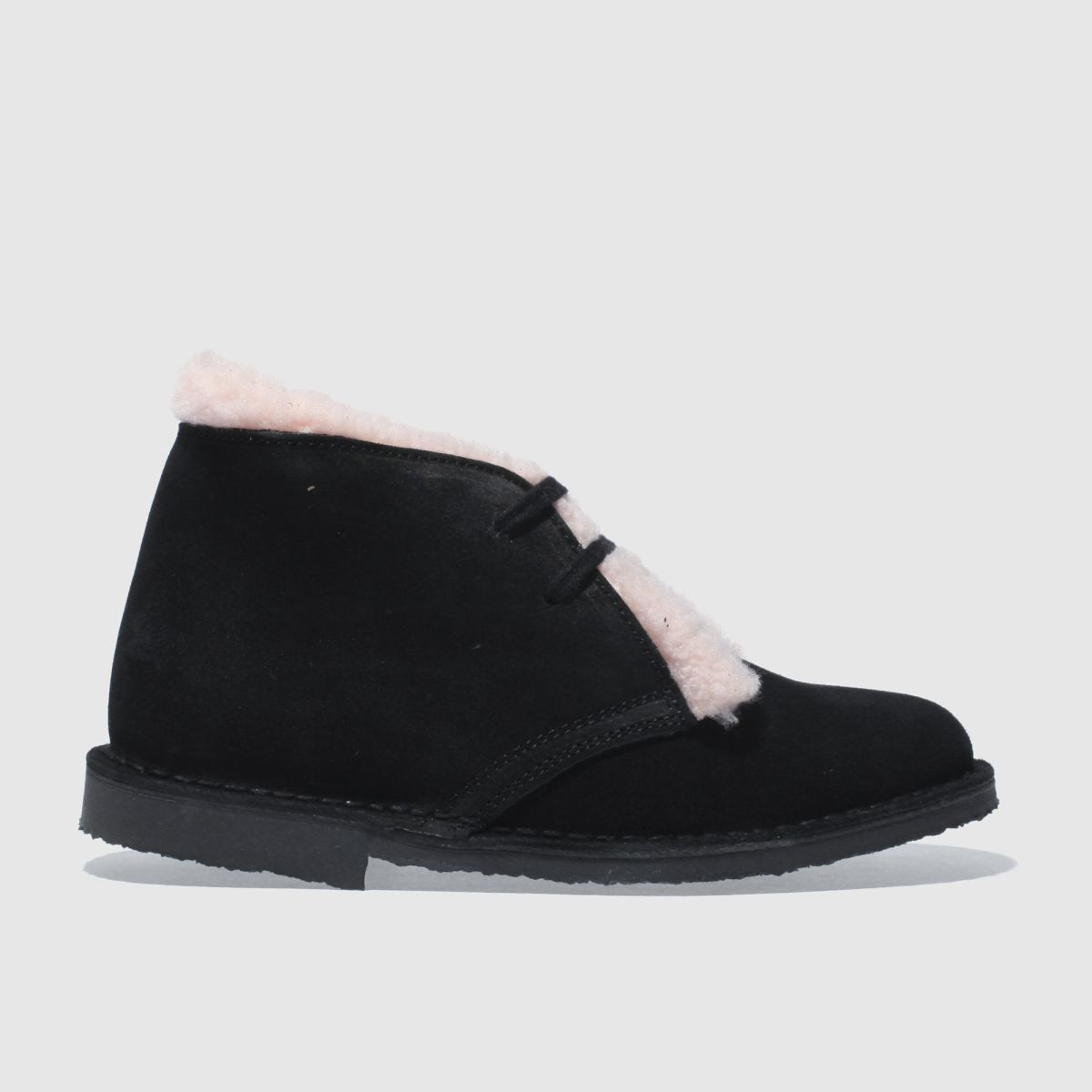 schuh black & pink nifty boots