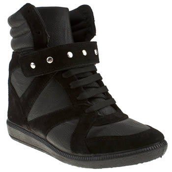 womens schuh black claude studded wedge sneaker boots