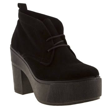 womens schuh black testify boots