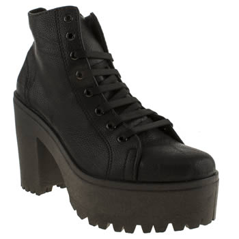 Womens Schuh Black Chit Chat Boots