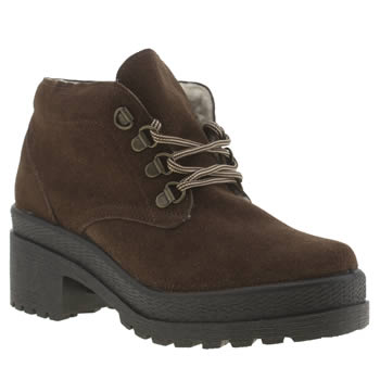 Schuh Brown Hitch Hike Boots