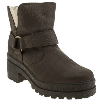 Schuh Dark Brown Staged Boots