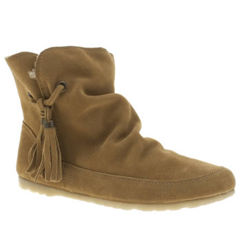 Schuh Tan Prime Time Womens Boots