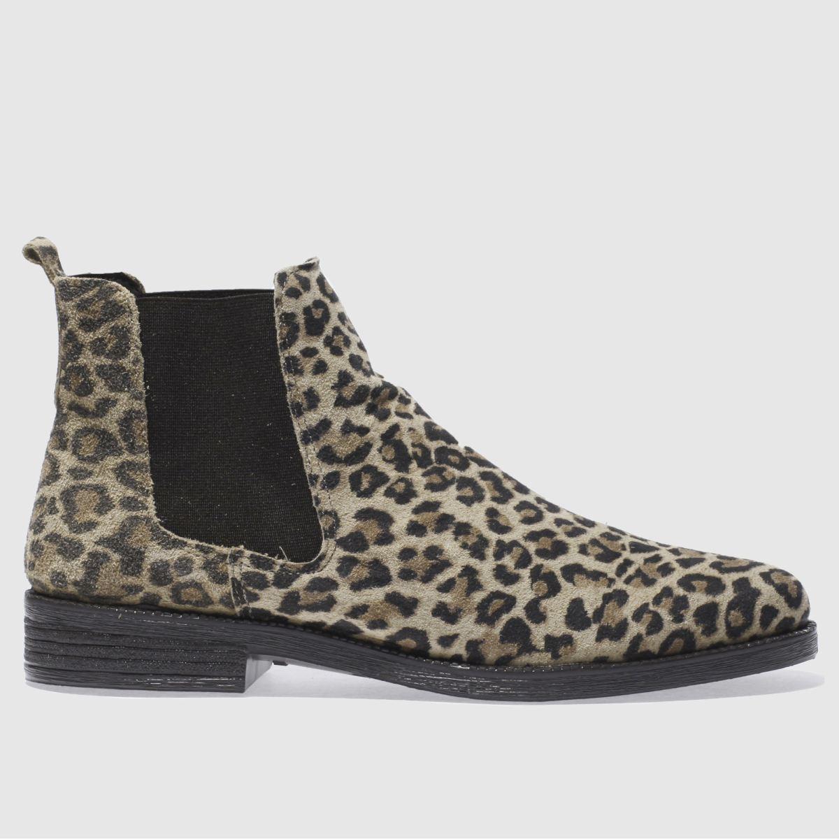 schuh beige & brown prompt boots