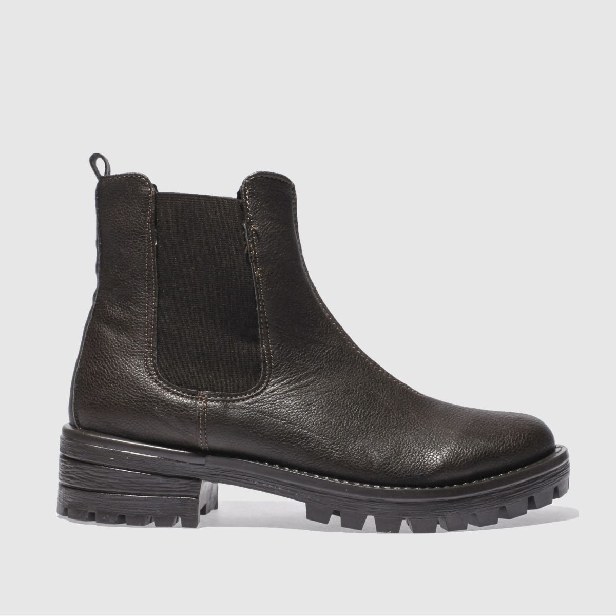 schuh dark brown eyes open boots