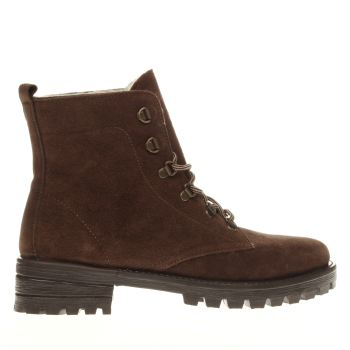 Schuh Brown Robotic Womens Boots