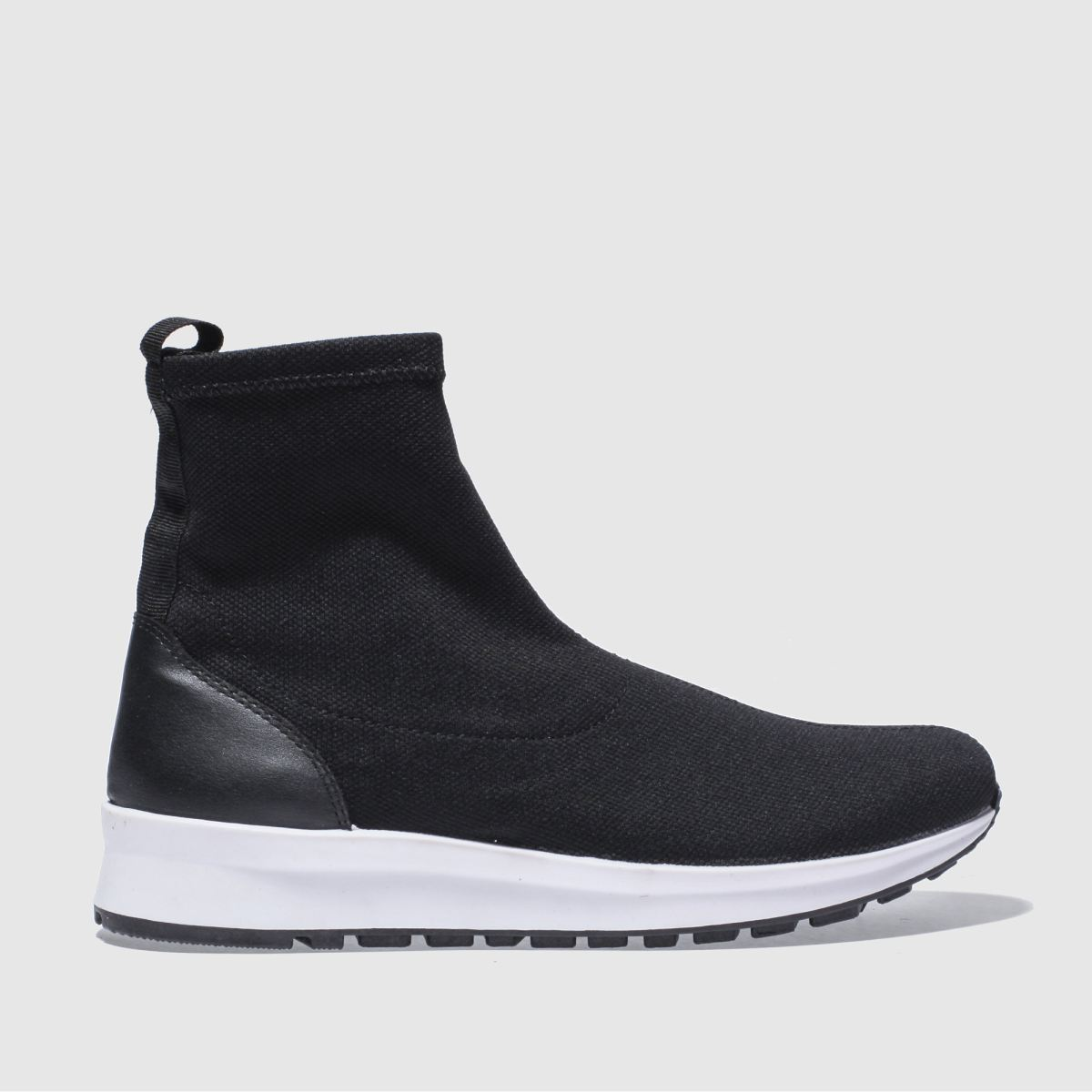Schuh Black & White Air Time Boots