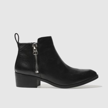 Schuh Black Mobster Womens Boots