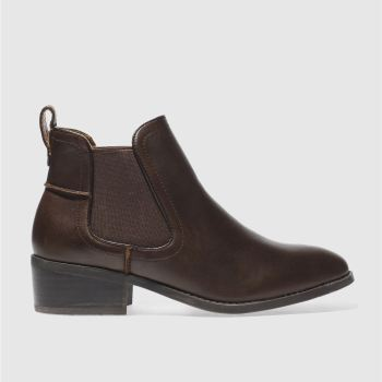 Schuh Brown Mellow Womens Boots