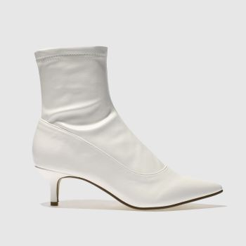 Schuh White Strike A Pose Womens Boots