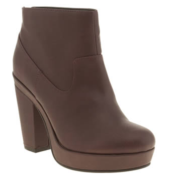 Womens Schuh Burgundy Get Up Boots