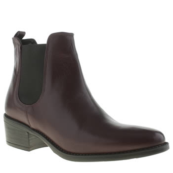 Schuh Burgundy Vice Boots