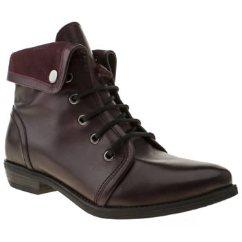 Womens Schuh Burgundy Tempo Ii Boots