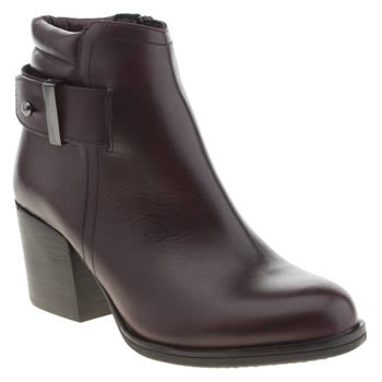 Womens Schuh Burgundy Data Boots