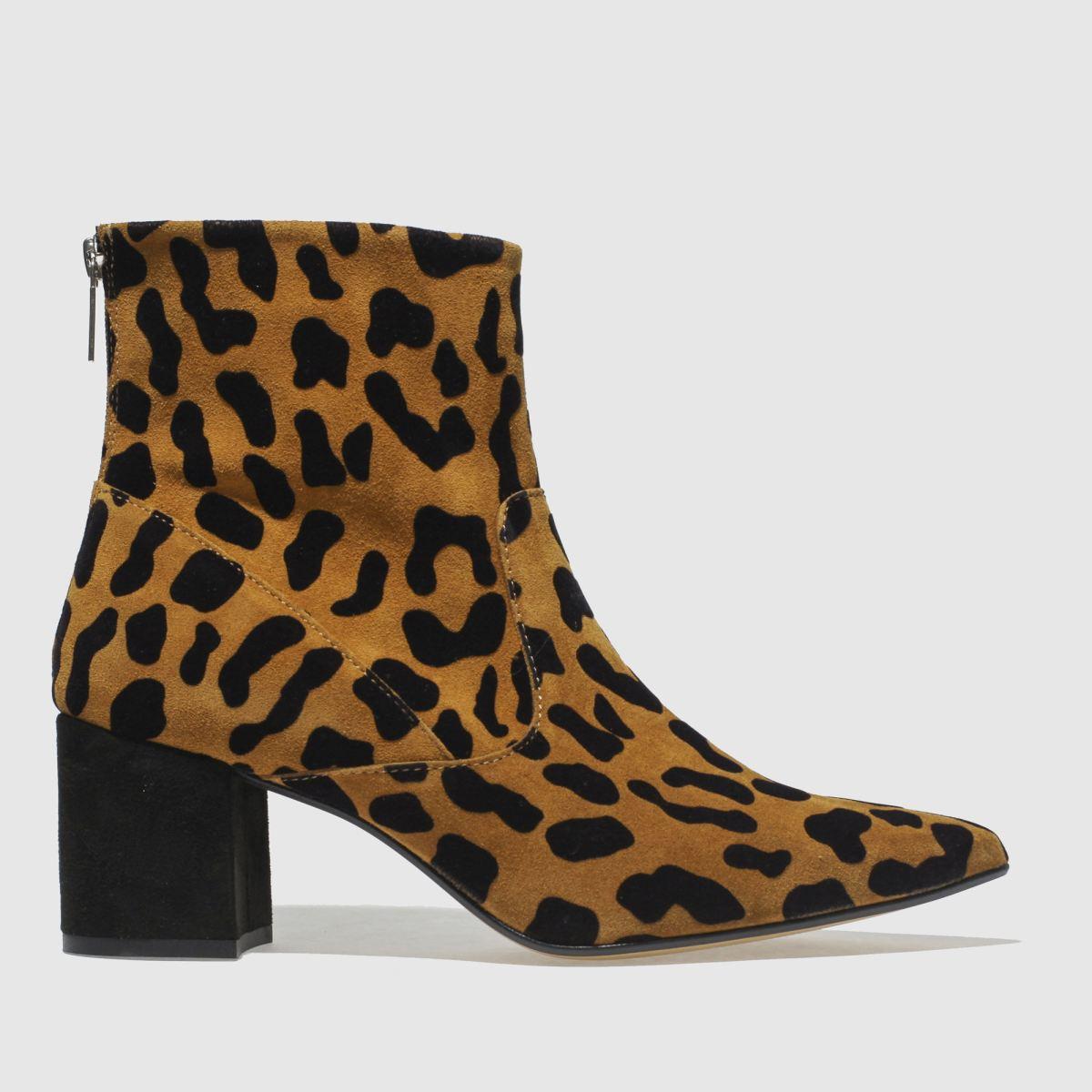 Schuh Tan & Black Banger Boots