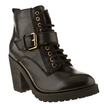 womens schuh black front row boots