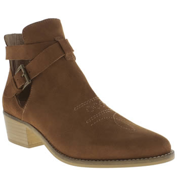 Schuh Tan Rodeo Boots