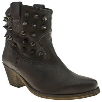 womens schuh black wildfire western stud boots