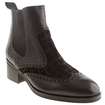 Schuh Black Down Town Boots