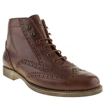 Womens Schuh Brown Velocity Boots