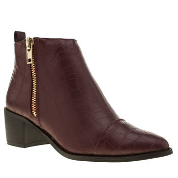Womens Schuh Burgundy Confession Boots