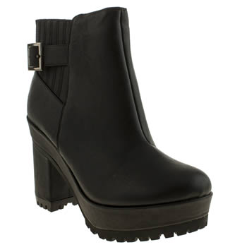 Schuh Black Endless Boots