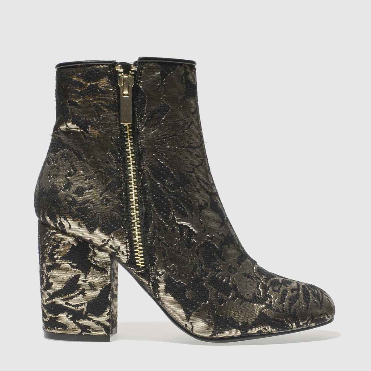 Schuh Black & Gold Premier Boots