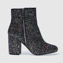 Schuh Black & Silver Premier Womens Boots