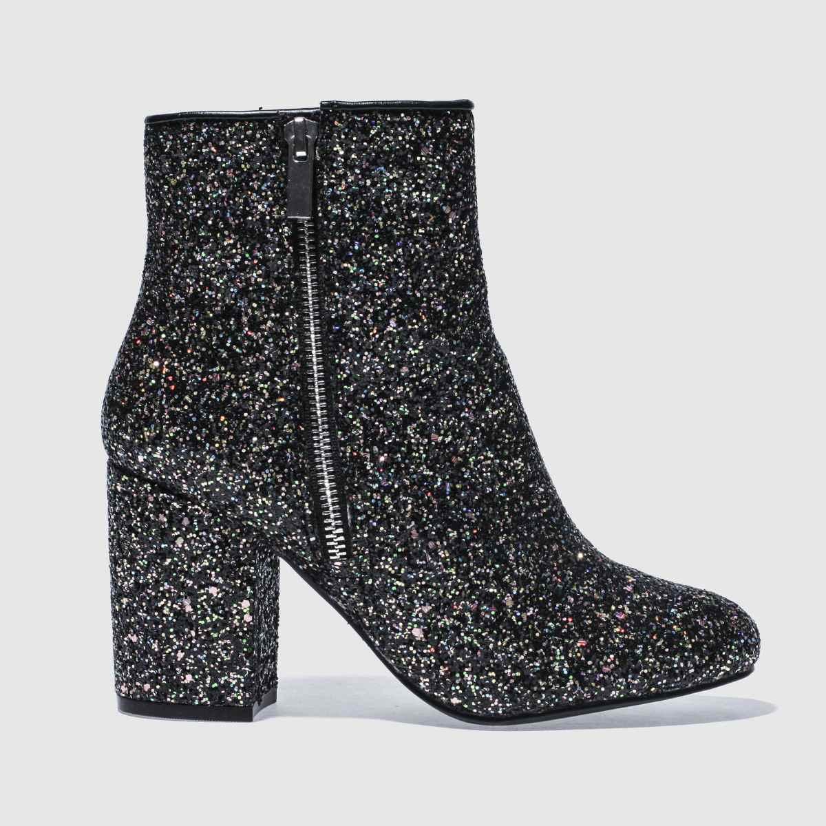 schuh black & silver premier boots