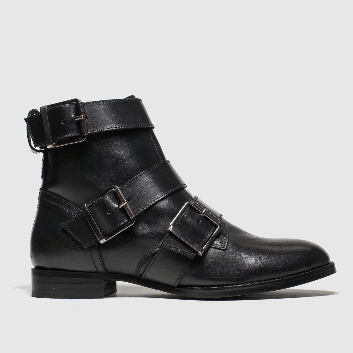 schuh Schuh Black Buckle Up Boots