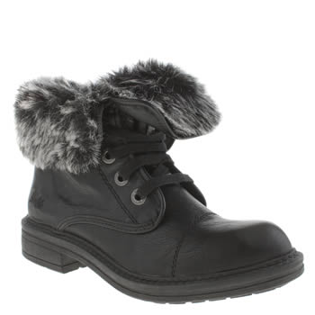 Womens Blowfish Black Farina Shearling Boots