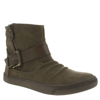 Blowfish Khaki Pymm Womens Boots