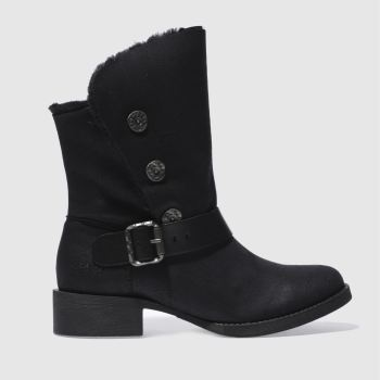 Blowfish Black Katti Shearling Womens Boots