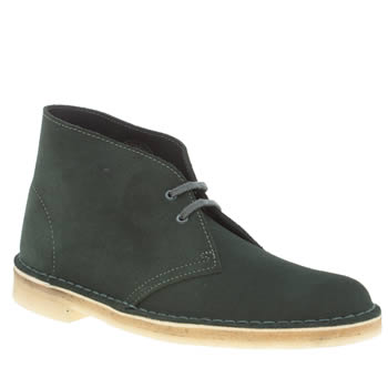 CLARKS ORIGINALS DARK GREEN DESERT BOOTS