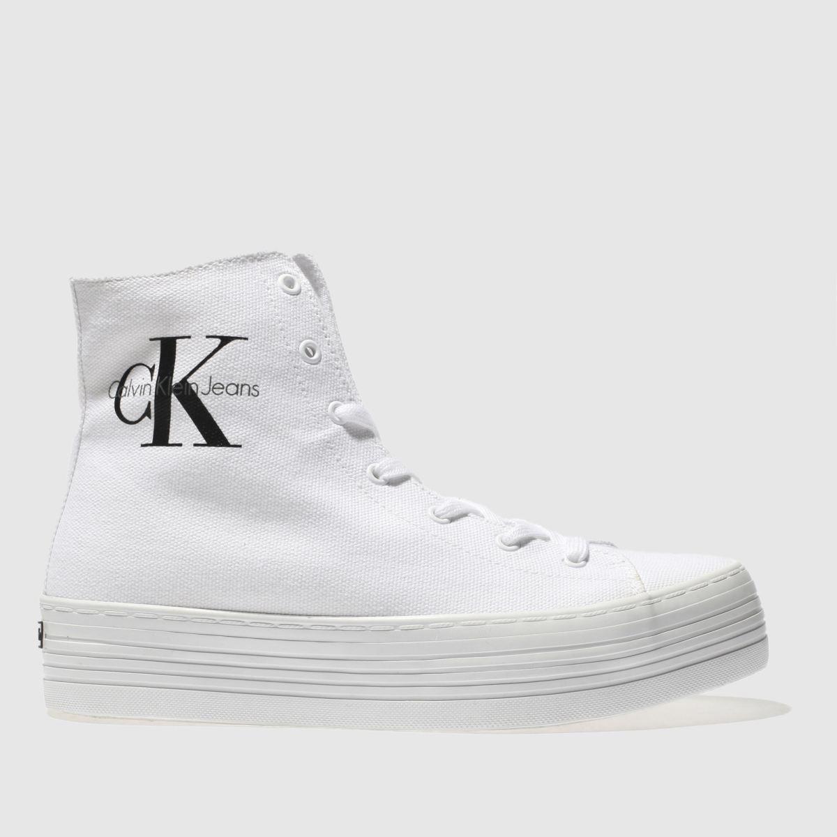 Calvin Klein White & Black Jeans Zabrina Canvas Trainers