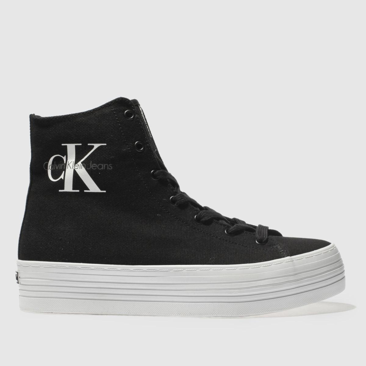 Calvin Klein Black & White Jeans Zabrina Canvas Trainers