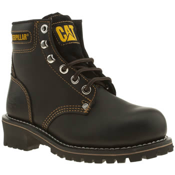 womens caterpillar black logger boots