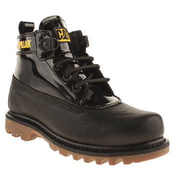 womens caterpillar black alexa patent boots